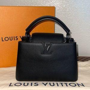 Authentic Louis Vuitton Capucines BB Matte black